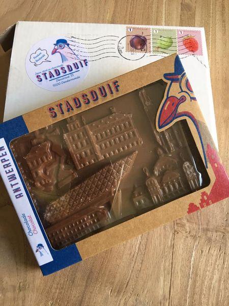 Verzenddoos Stadsduif chocolade Antwerpen