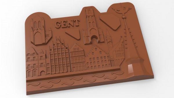 render Gent chocolade Stadsduif