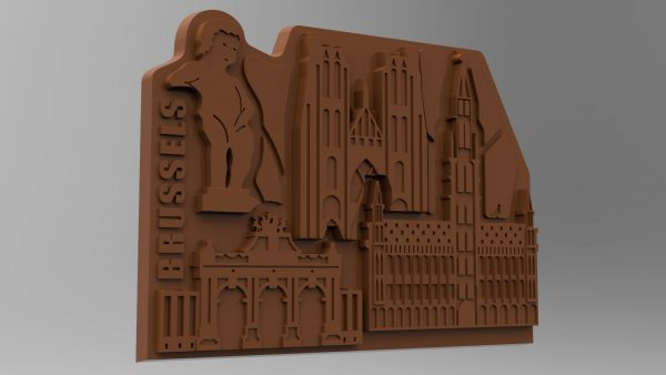 Render van onze creatieve chocolate bar van onze hoofdstad Brussel.