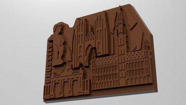 Render Stadsduif Chocolade Brussel