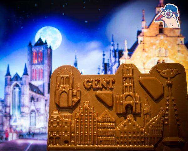 CHocolade reep stadsduif Gent
