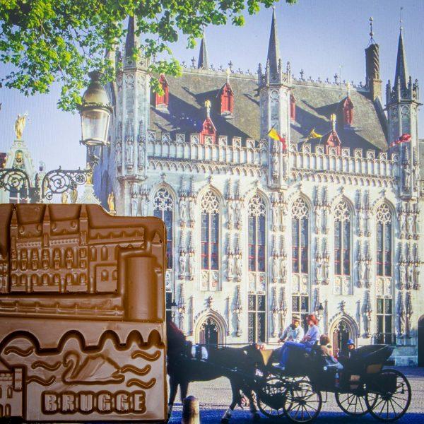 Chocolade reep Stadsduif Brugge Burg Stadhuis