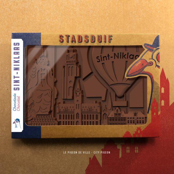 Chocolade reep Stadsduif Sint-Niklaas