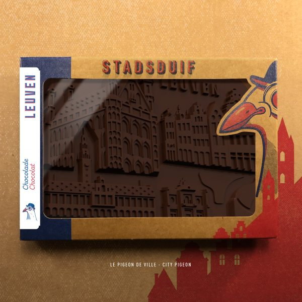 De chocolade versie van de Stad Leuven - Stadhuis - Universiteitsbibliotheek - Station - Stella Artois