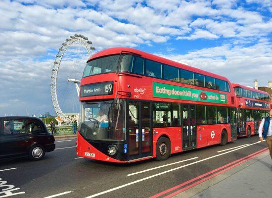 London dubbeldäckare london eye