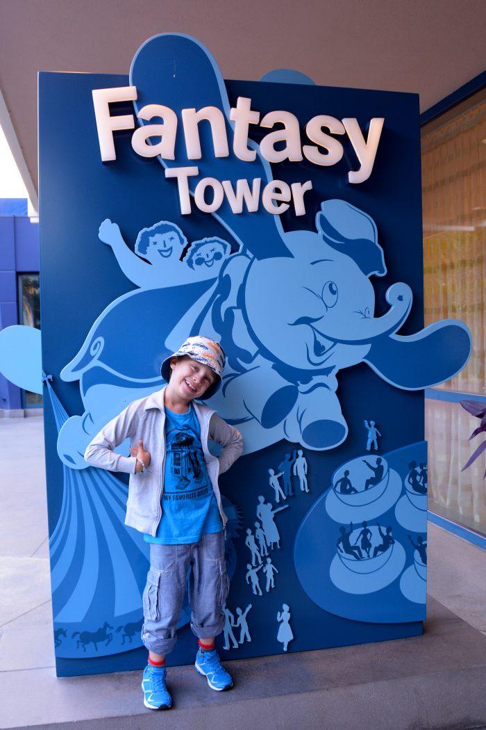 fantasy tower disneyland hotel anaheim