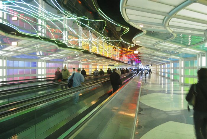 O'hare flygplats i Chicago.