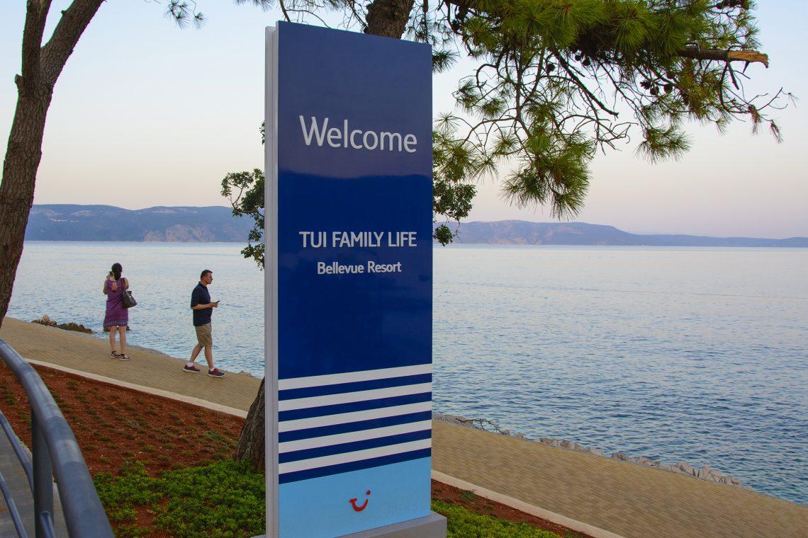 Skylt TUI Family Lief Bellevue Resort Rabac Kroatien