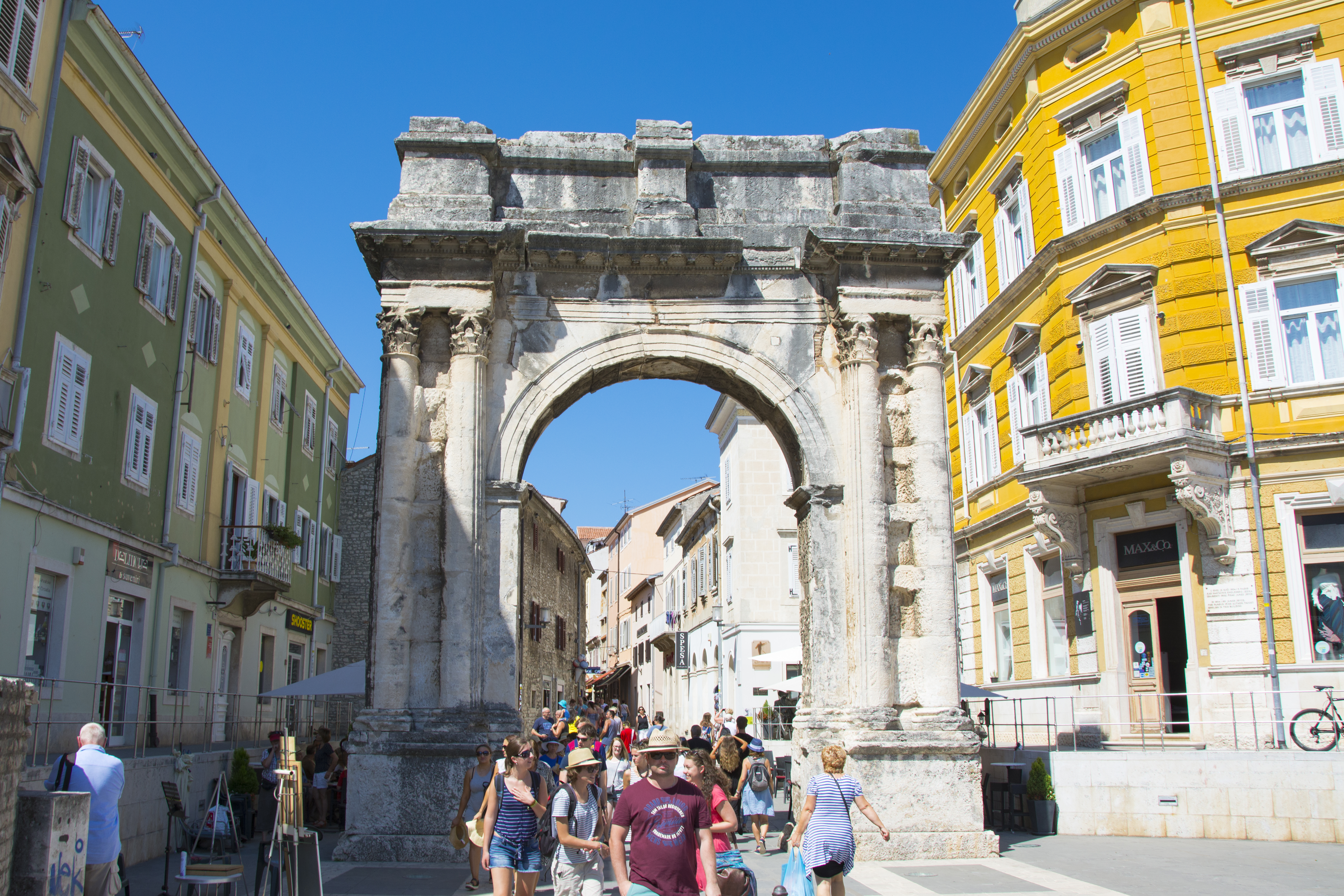Arch of the Sergii pula kroatien