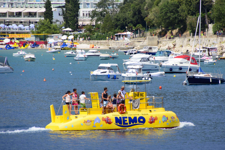gul ubåt rabac kroatien