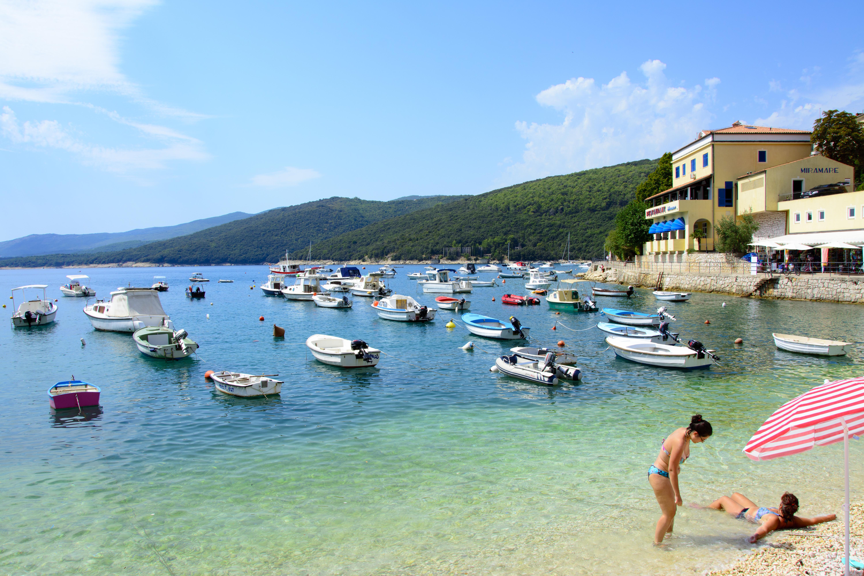 rabac kroatien strand