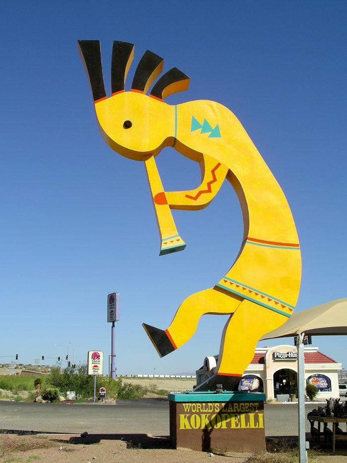 väldens största kokopelli arizona
