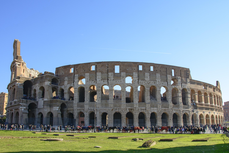 Ett besök på Colosseum och Forum Romanum