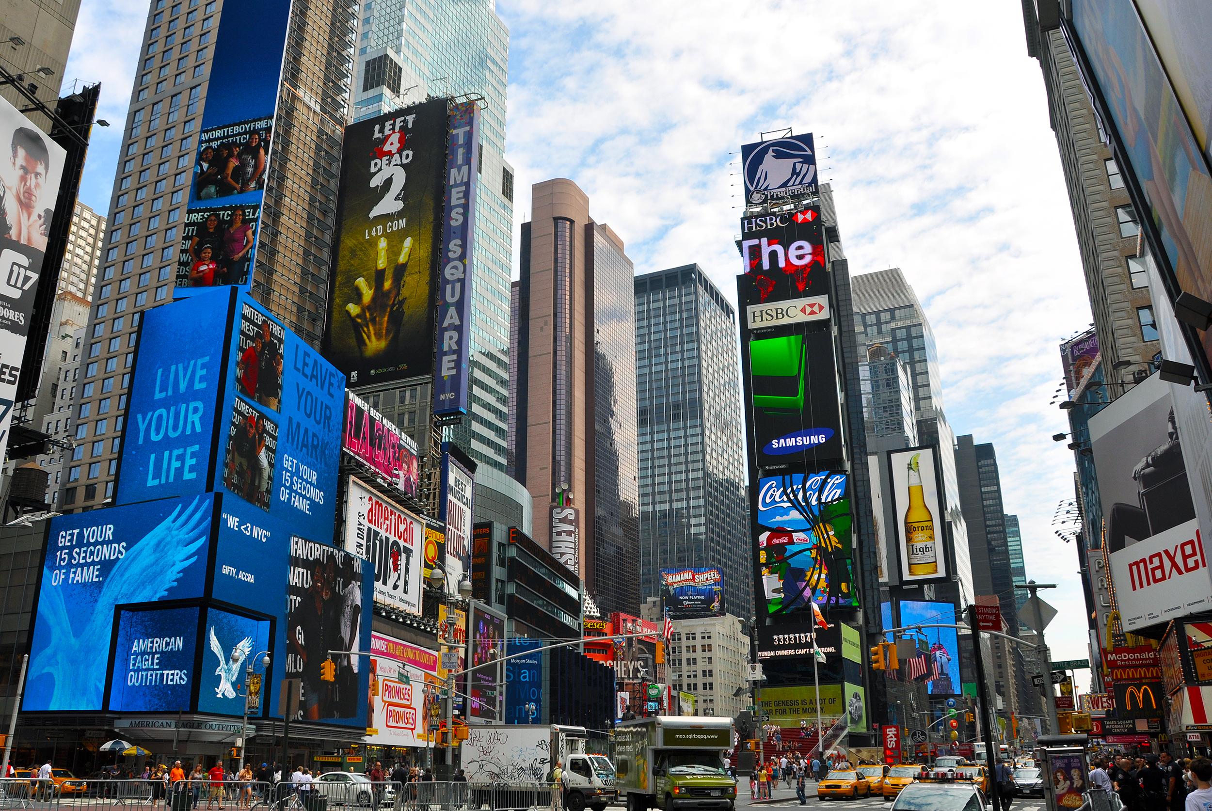 Åtta favoritplatser i USA times square new york city