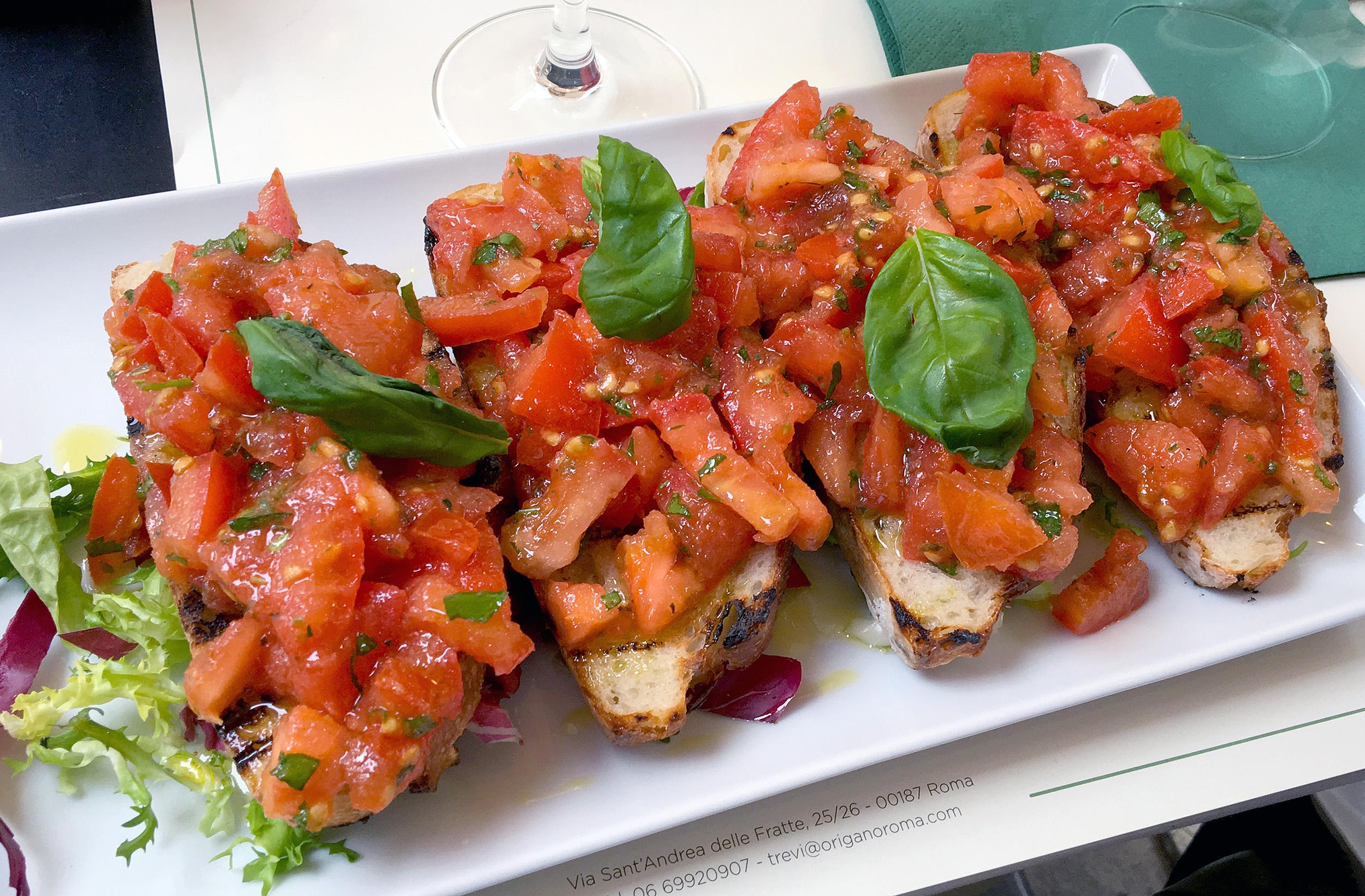 Så här äter och dricker du gott i Rom Origano Rom Bruschetta