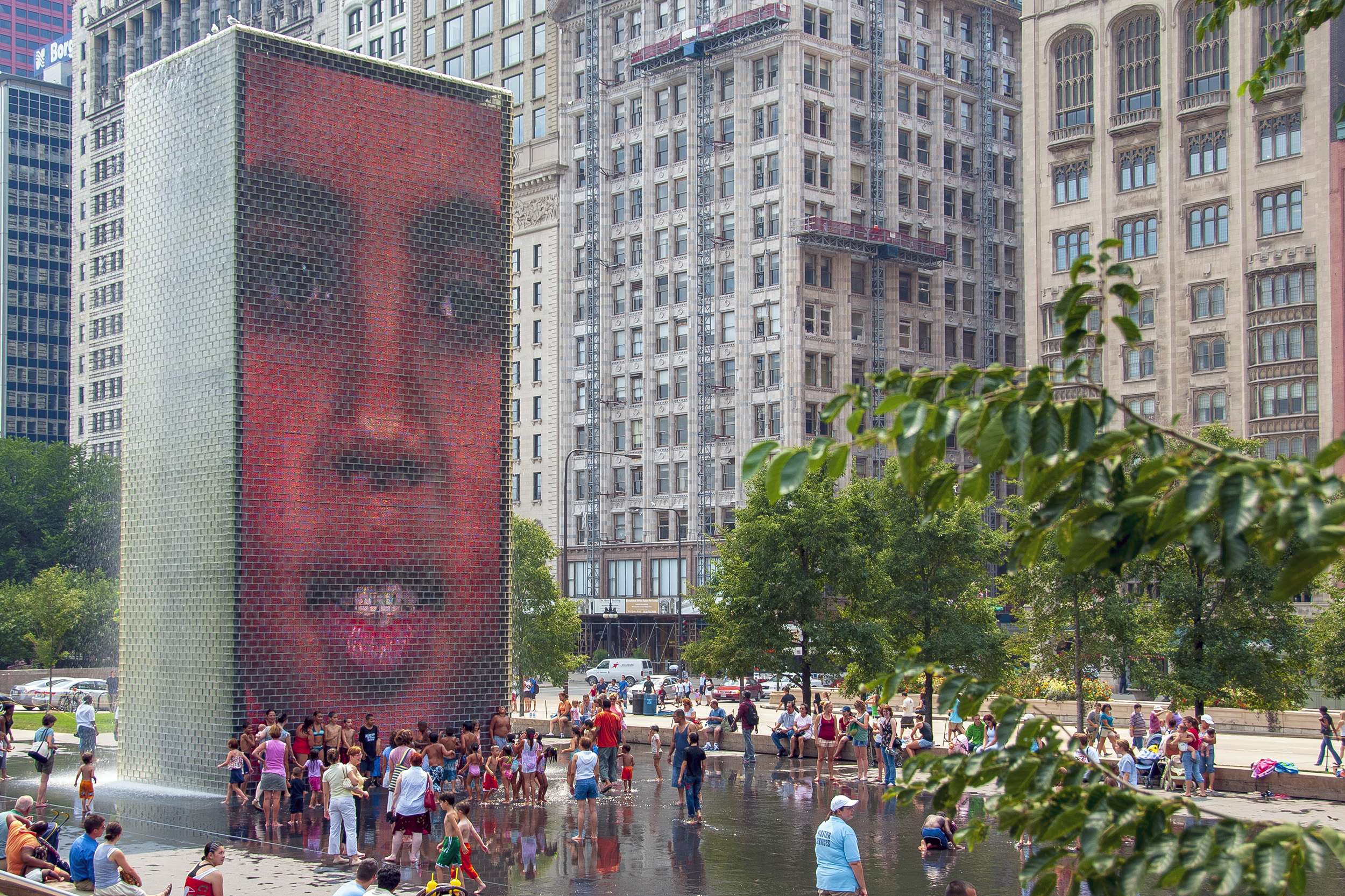 Crown Fountain Millennium Park Chicago