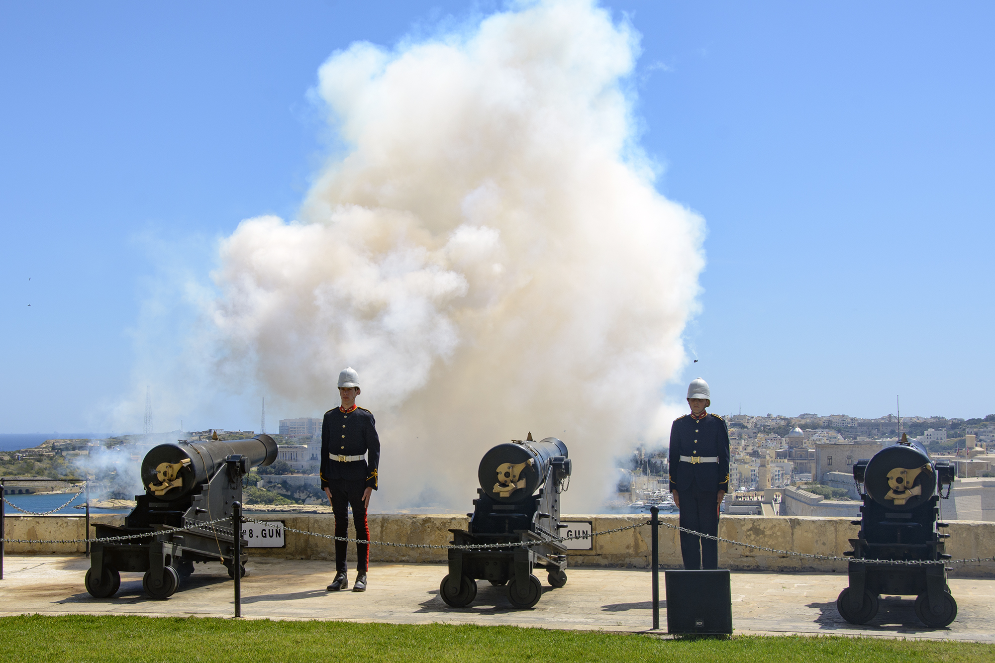 Saluting Battery Upper Barrakka Gardens Valletta