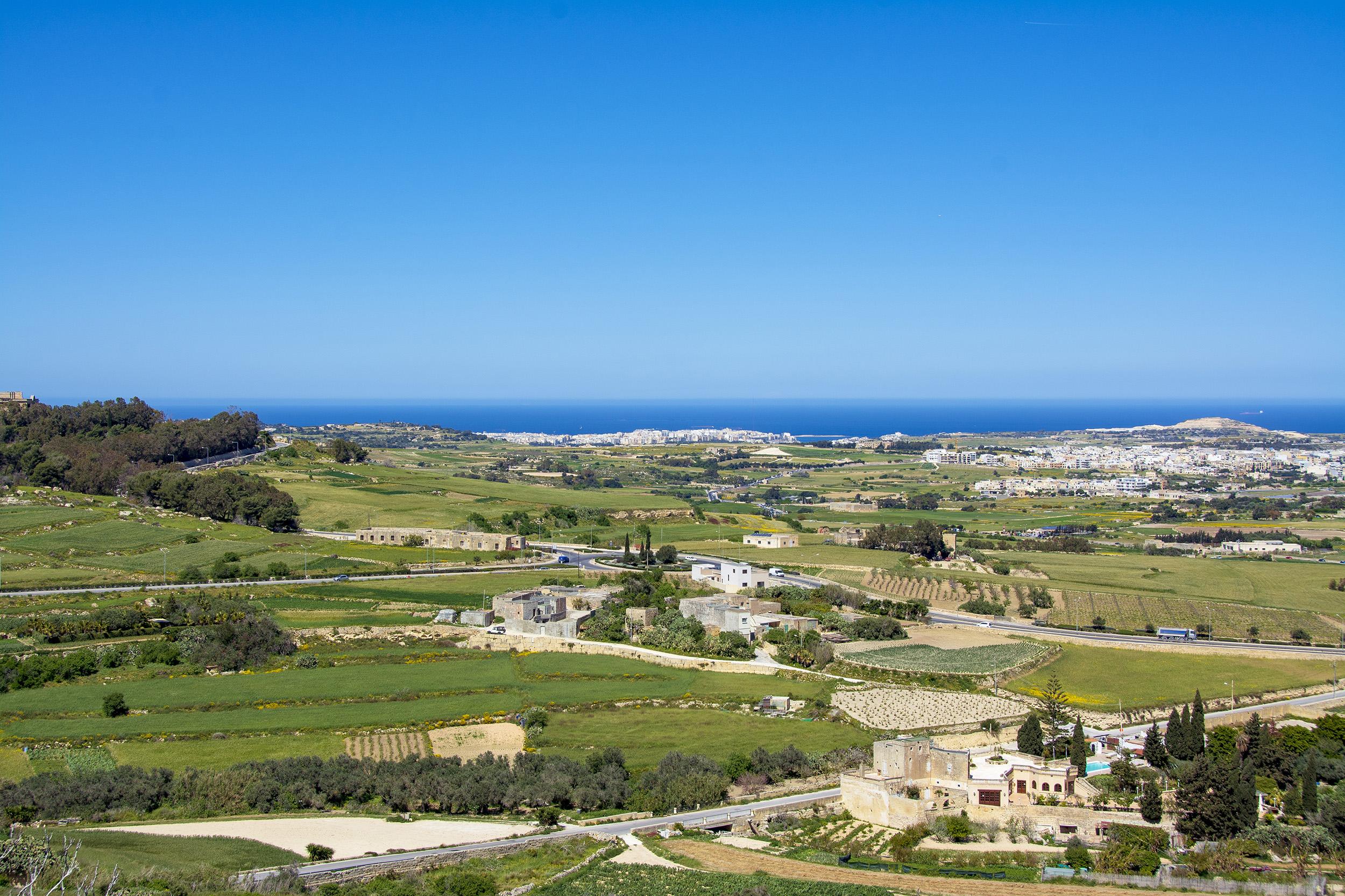 Den vackra utsikten från Fontanella Tea Garden.