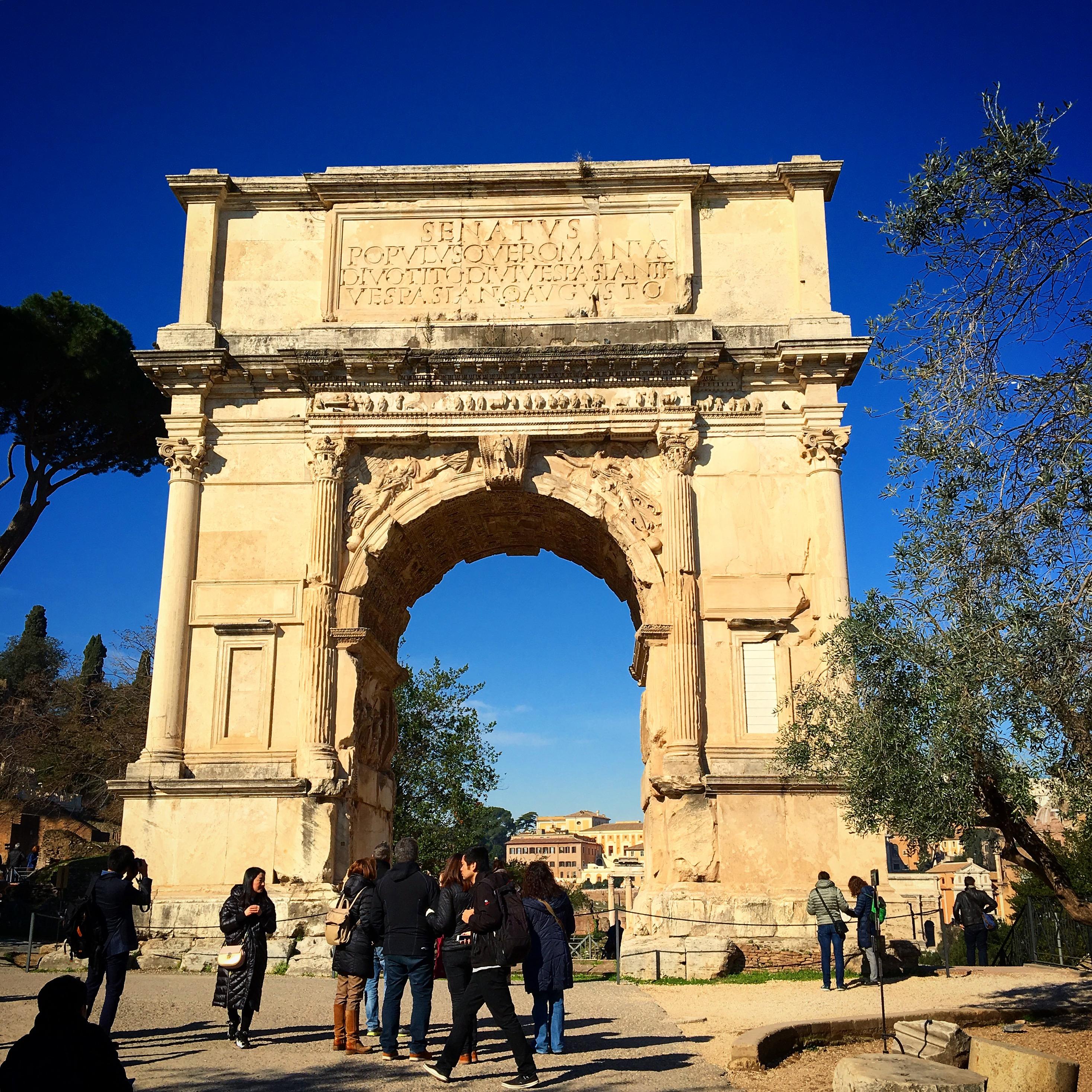 Titusbågen Forum Romanum Rom Italien