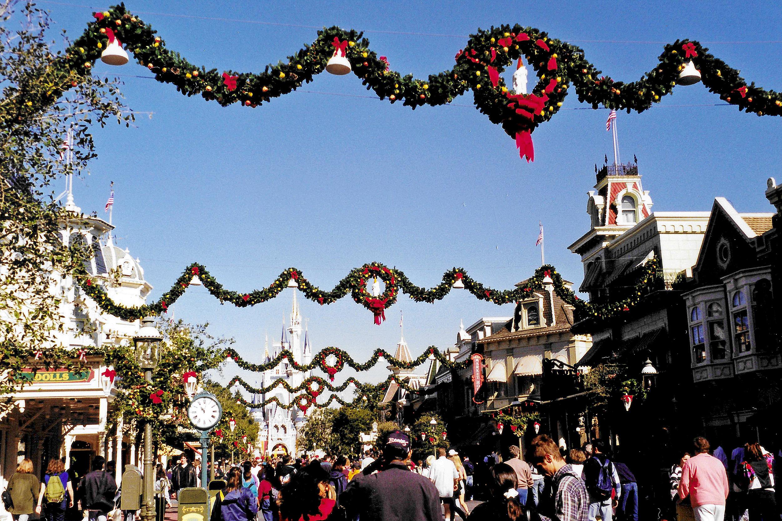 Juldekorationer Magic Kingdom Orlando Nyårsafton