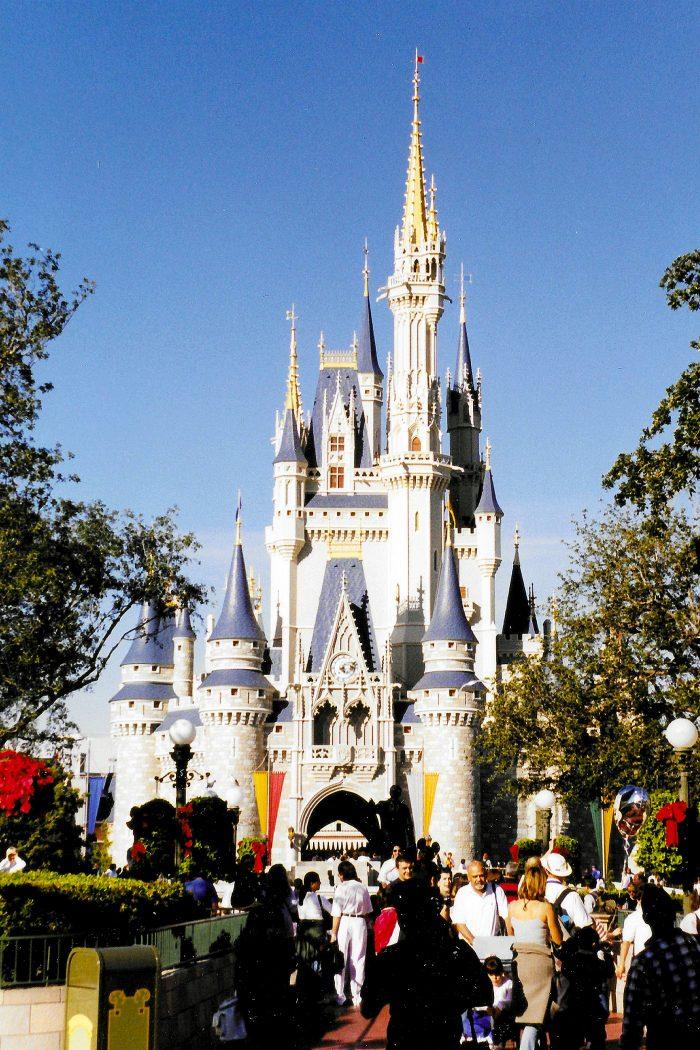 Cinderella Castle Magic Kingdom Nyårsafton