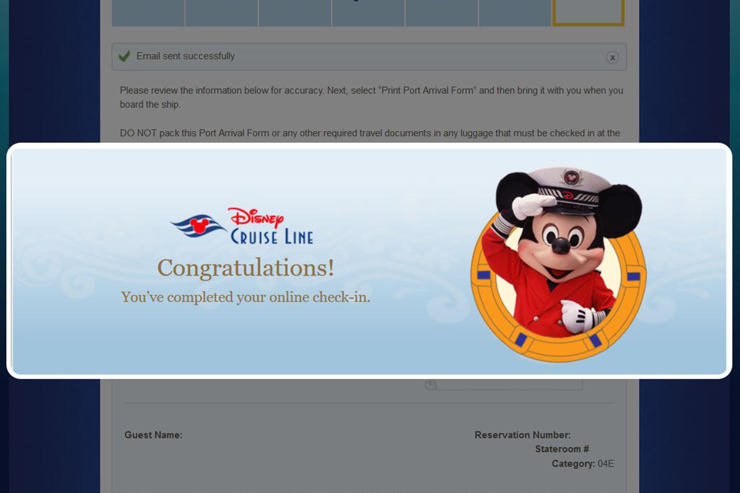 Incheckning Disneykryssning Disney Cruise Line