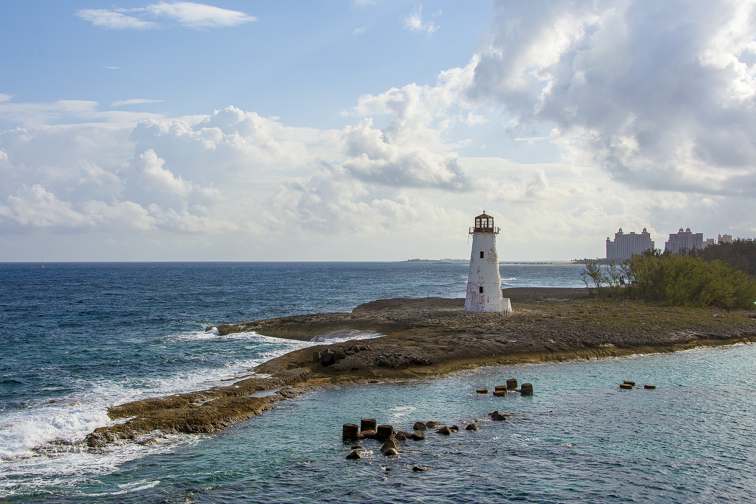 Nassau Harbour Hog Lighthouse Bahamas