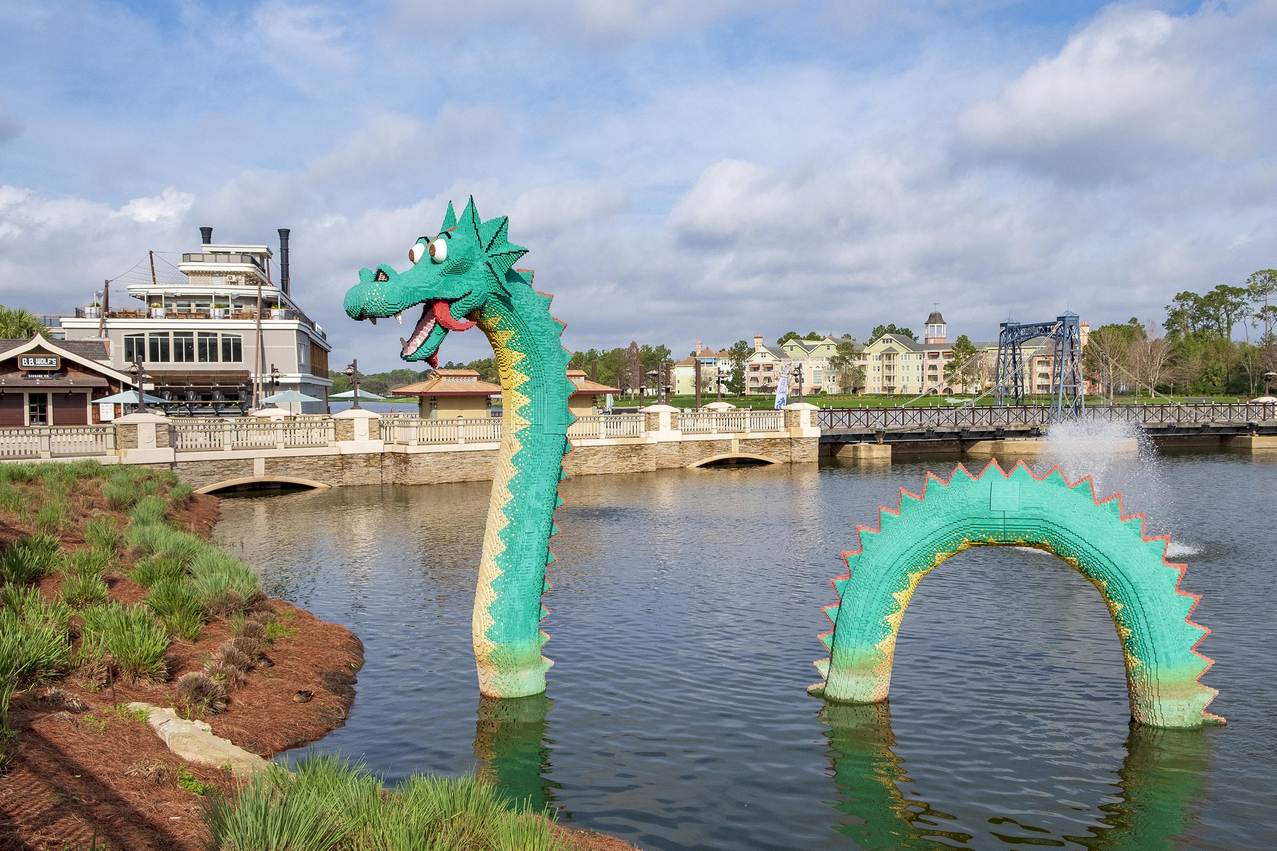 Lego Drake Disney Springs Orlando