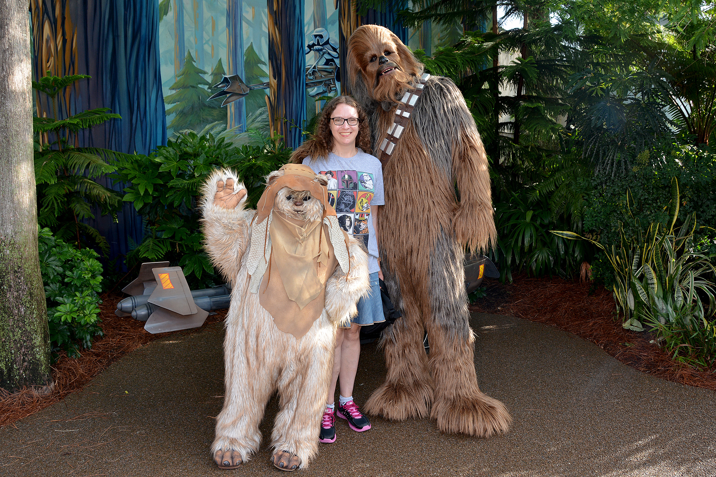 Galaxys edge star wars disneyland chewbacca