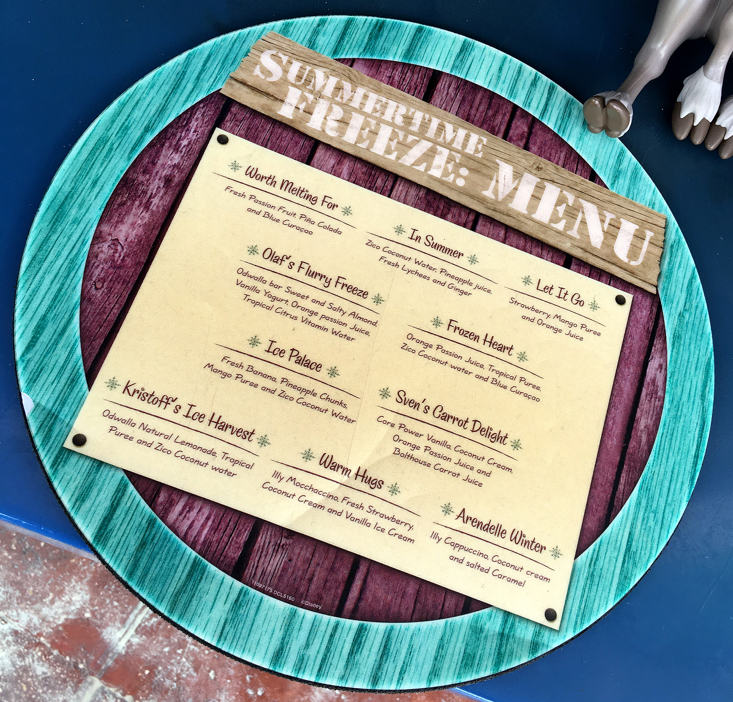 castaway cay summertime freeze menu