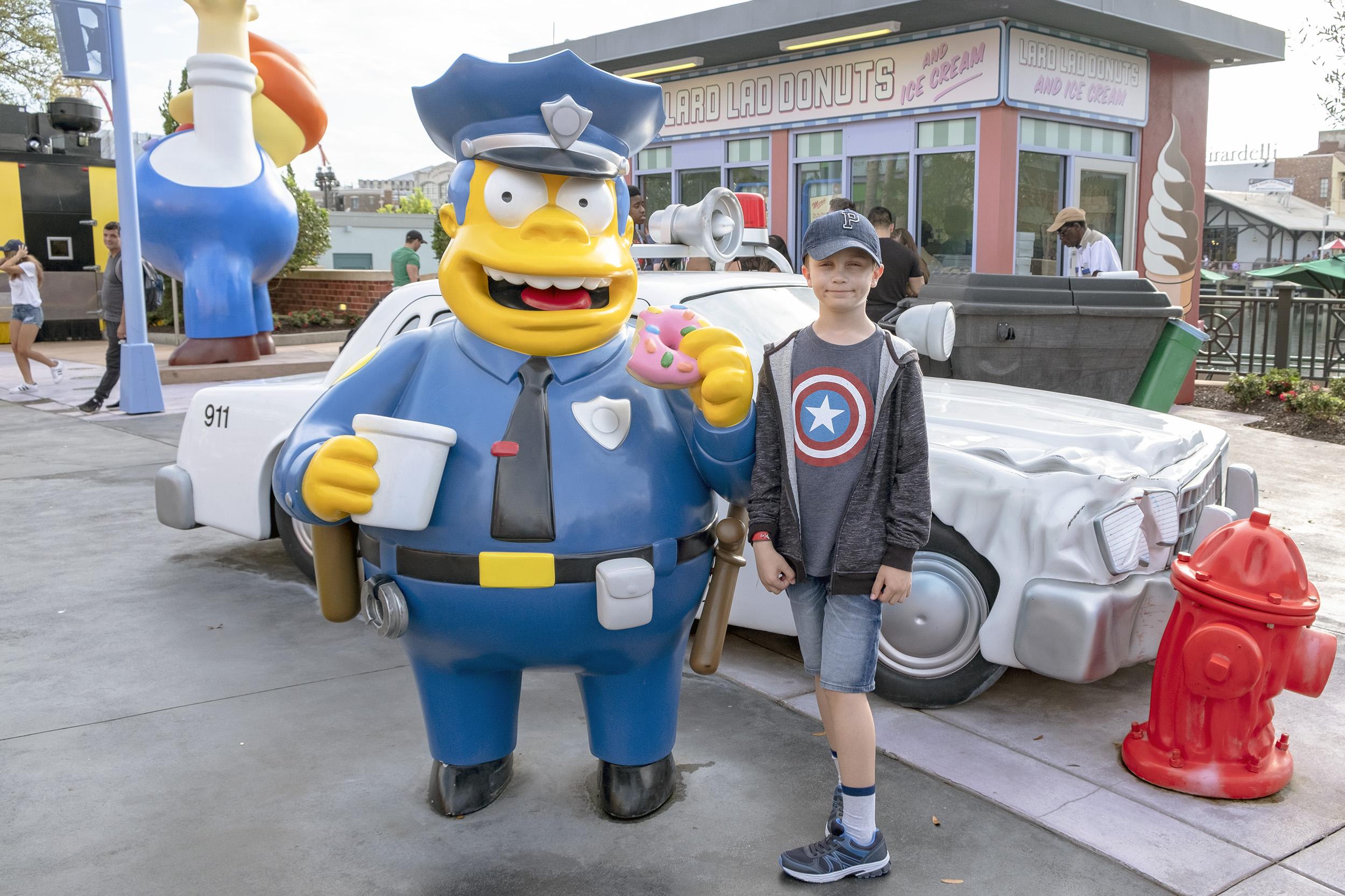 Chief Wiggum Universal Studios Orlando Simpsons
