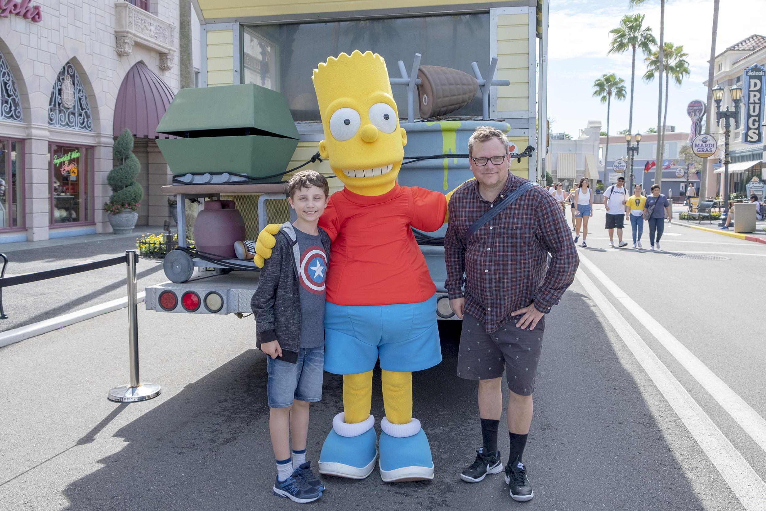 Bart Simpson Universal Studios Florida