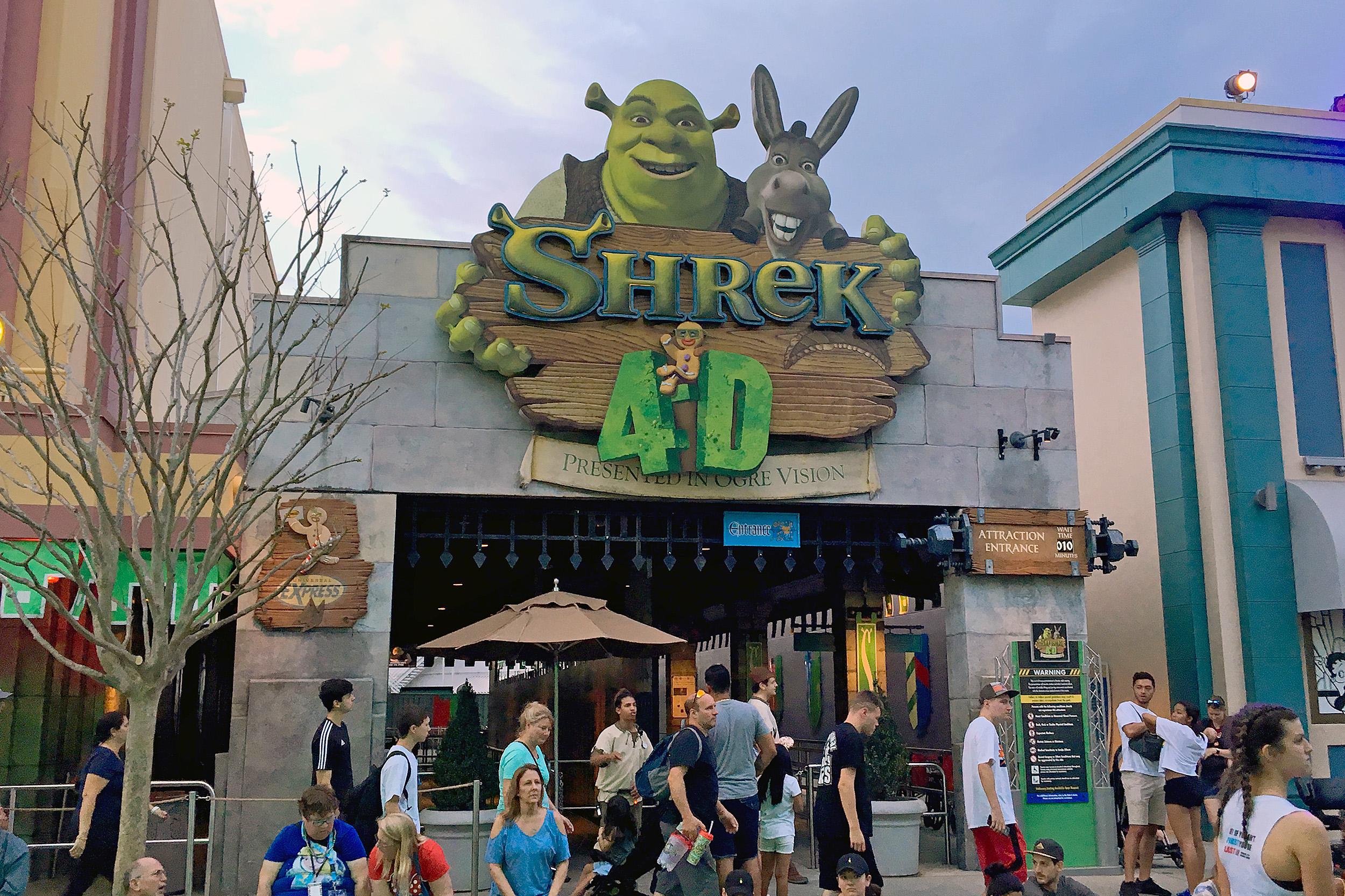 Shrek 4 D Åkattraktion Universal Studios Florida Åkattraktion