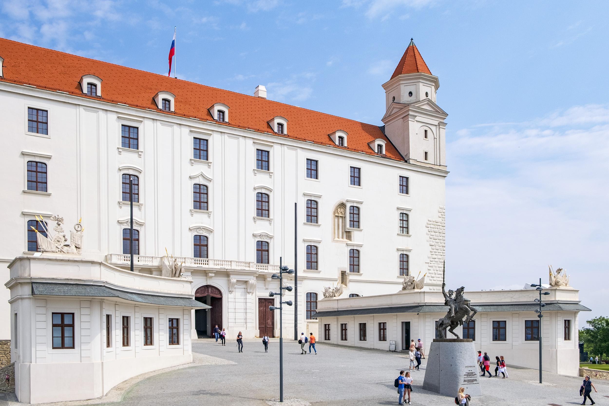 Slottet i Bratislava Slovakien