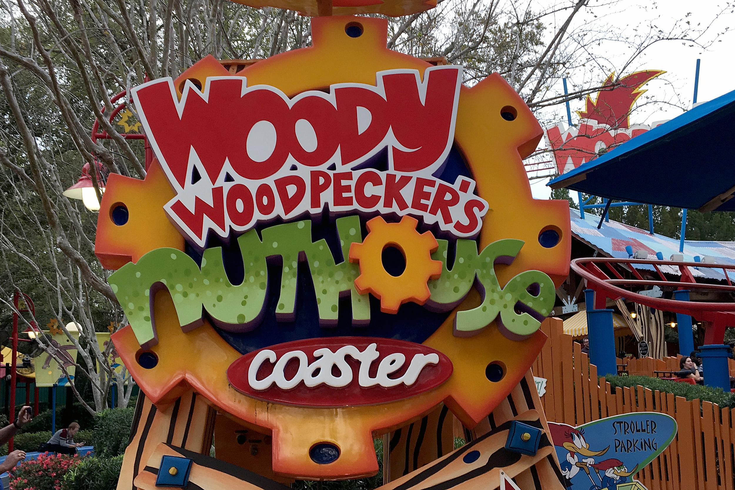 Woody Woodpeckers Coaster Universal Studios Florida Åkattraktioner