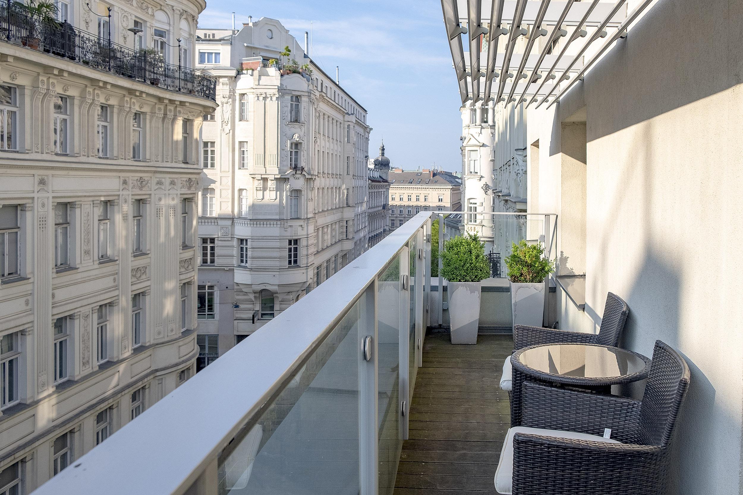 Hotel Das Tigra Wien Balkong