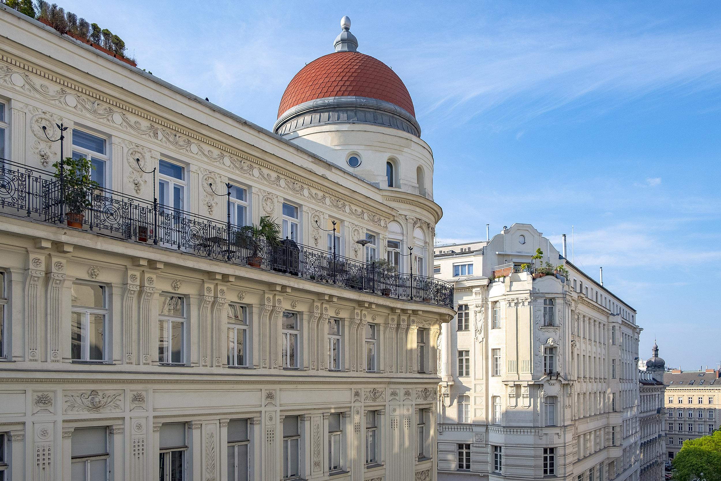 Hotel Das Tigra Wien Utsikt Balkong