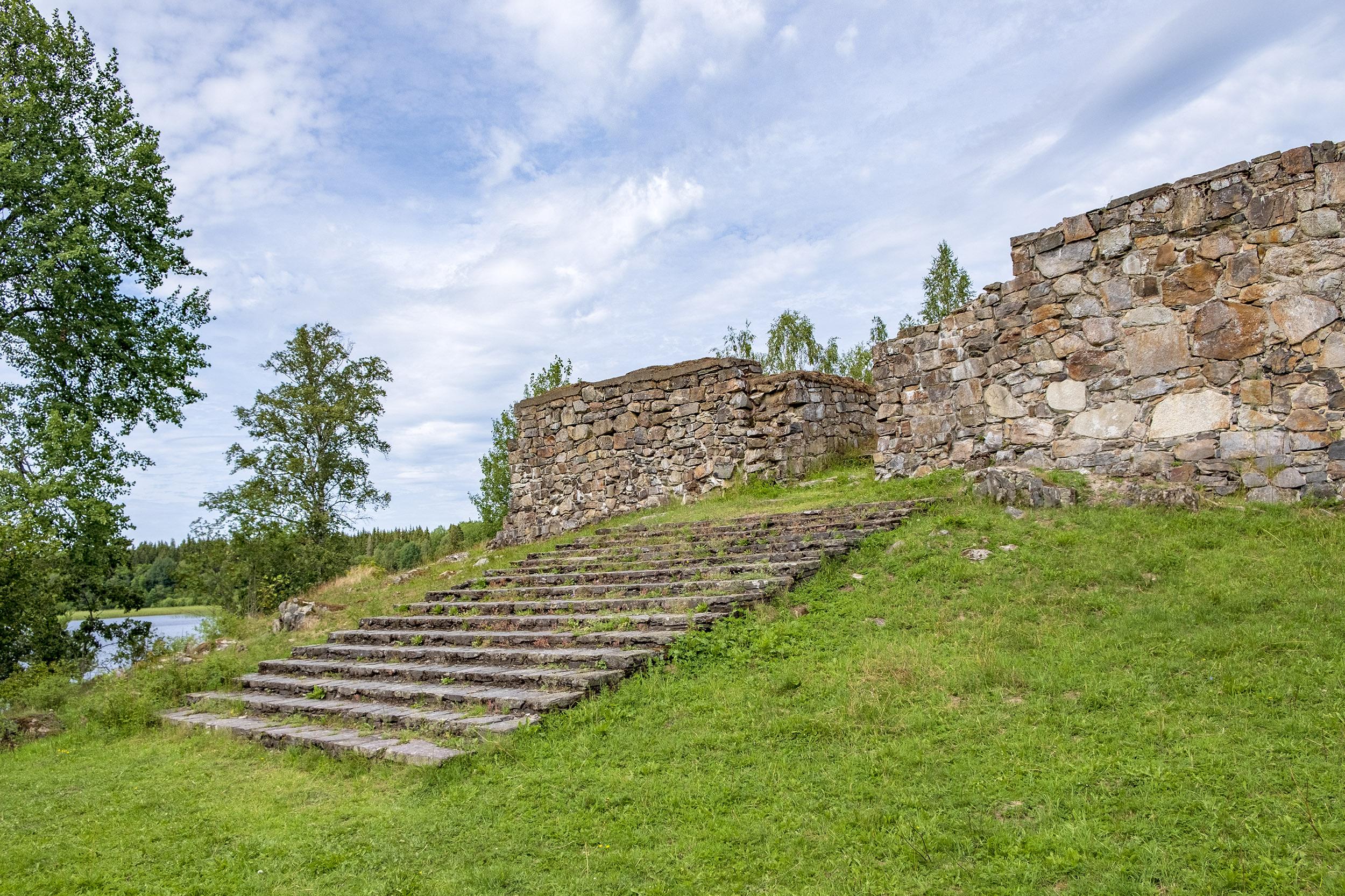 Paradtrappa Hultaby Slottsruin Vetlanda