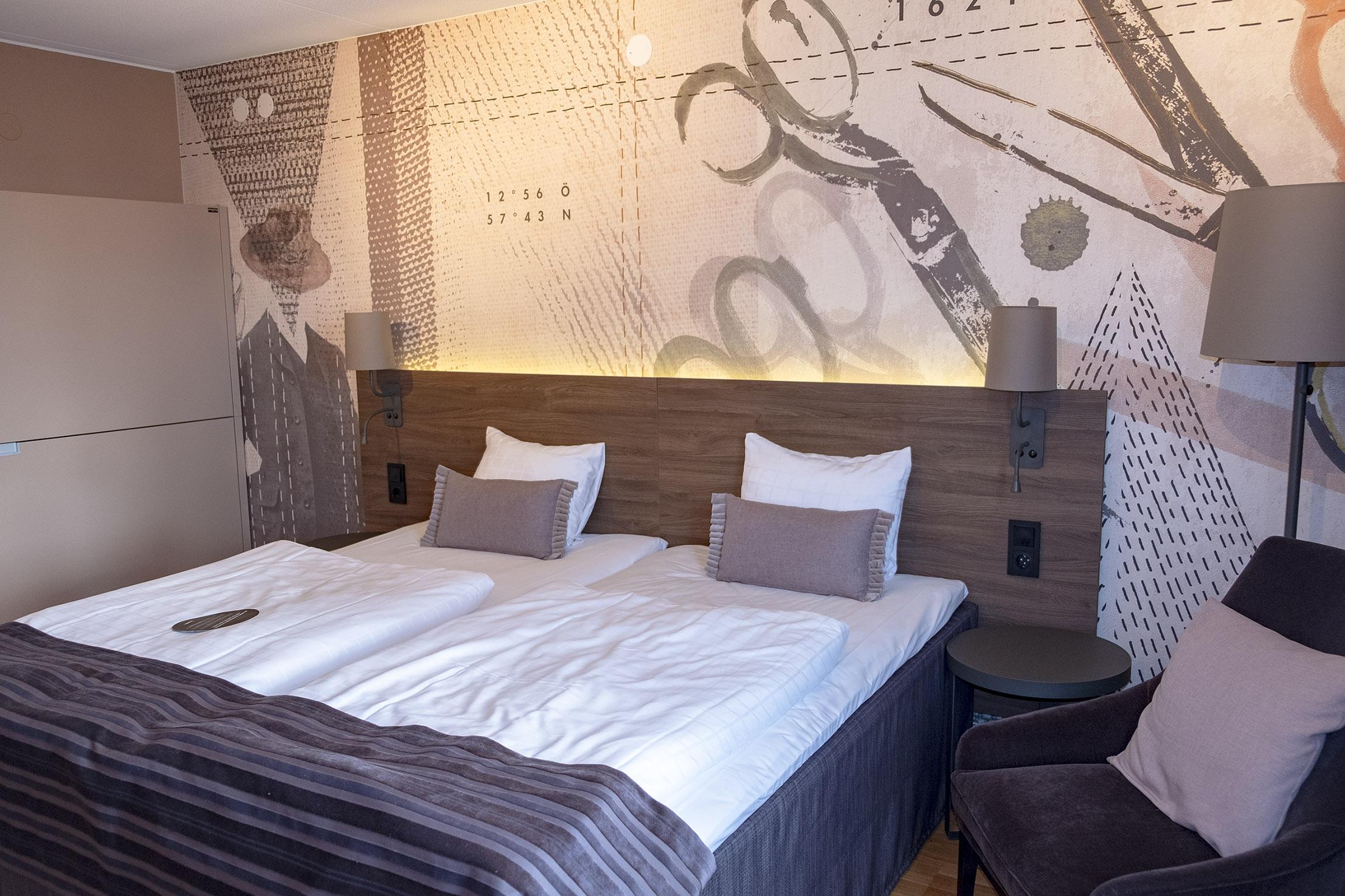 Mitt fina rum på Scandic Plaza i Borås.