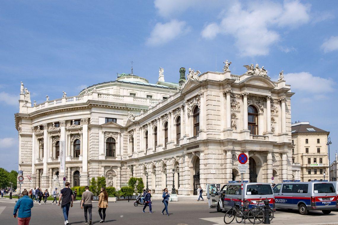 Burgtheater Wien Vienna Österrike Weekendresmål