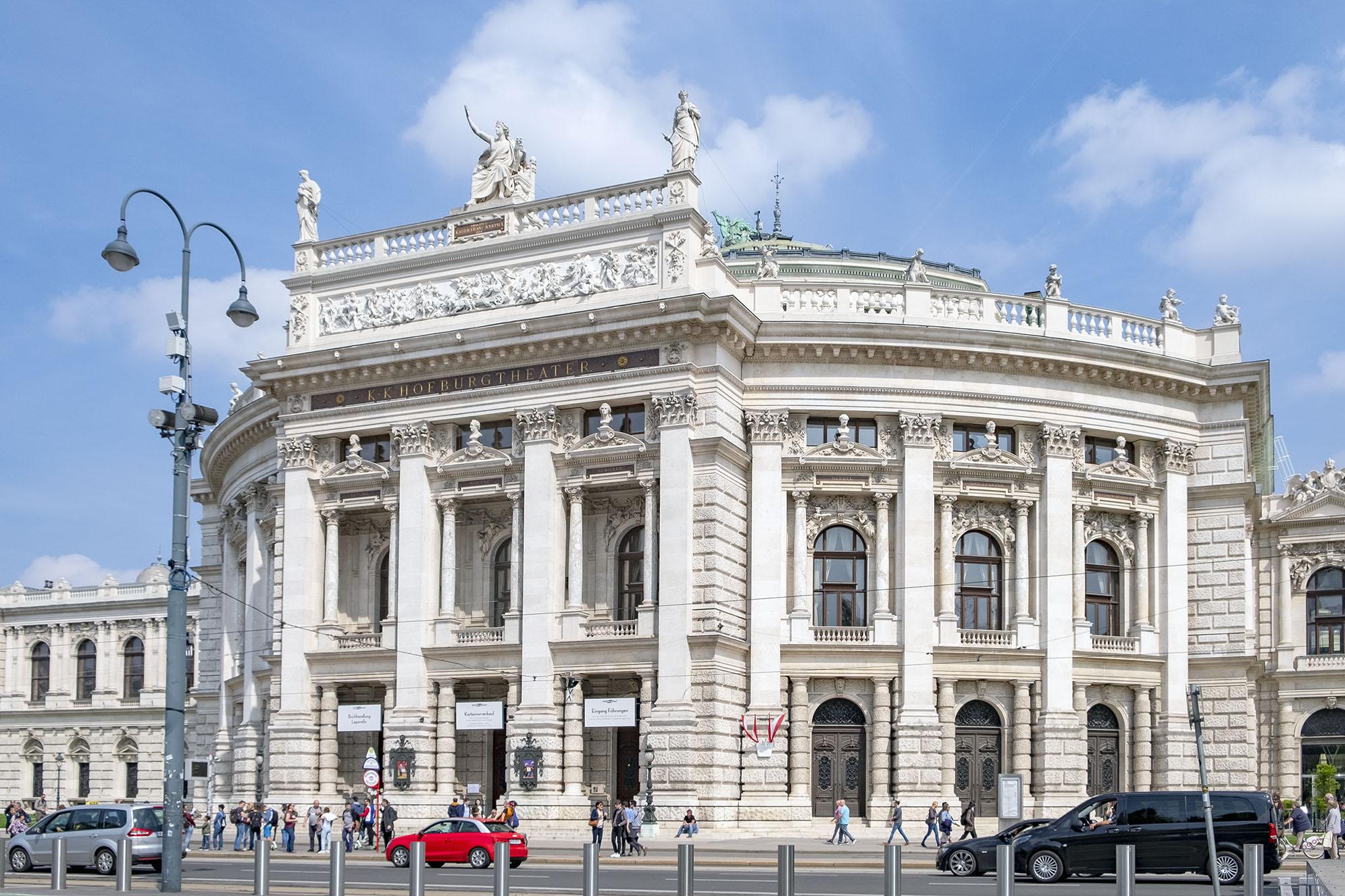 Burgtheater Wien Vienna Österrike Tillbakablick på 2019