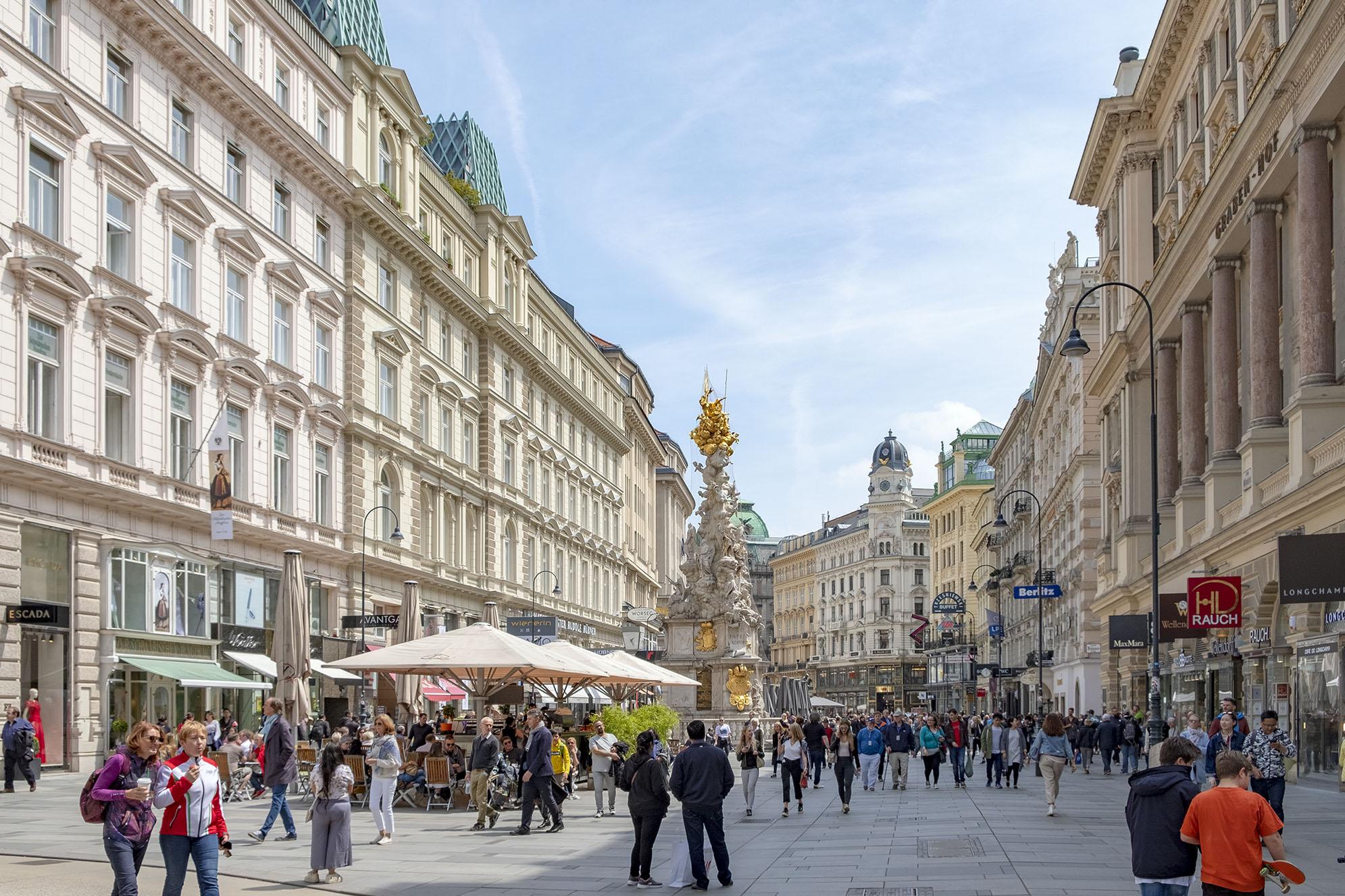 Graben är en av de mest kända gatorna i Wien