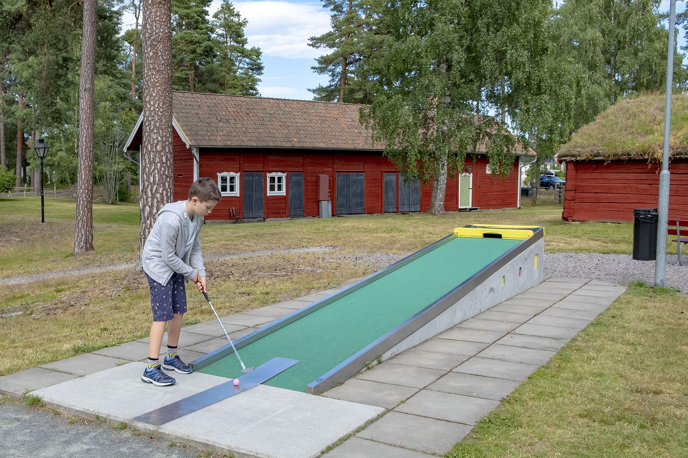 Minigolf i Forngården, Vetlanda. sommaren 2019