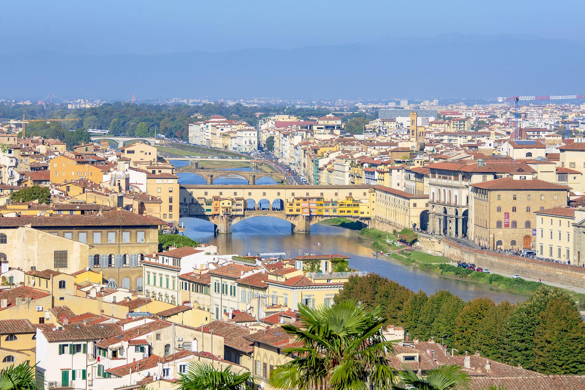Arno Ponte Vecchio Florens Tillbakablick på 2019