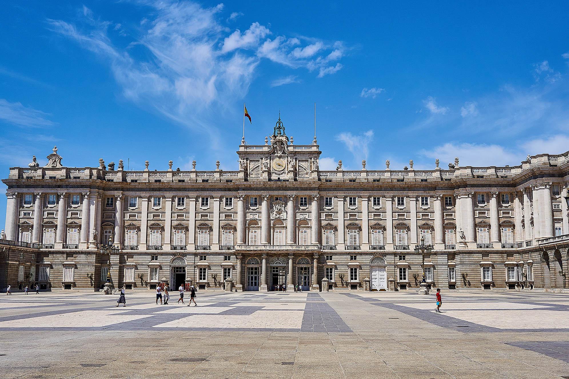 Palacio Real i Madrid. Huvudstäder.