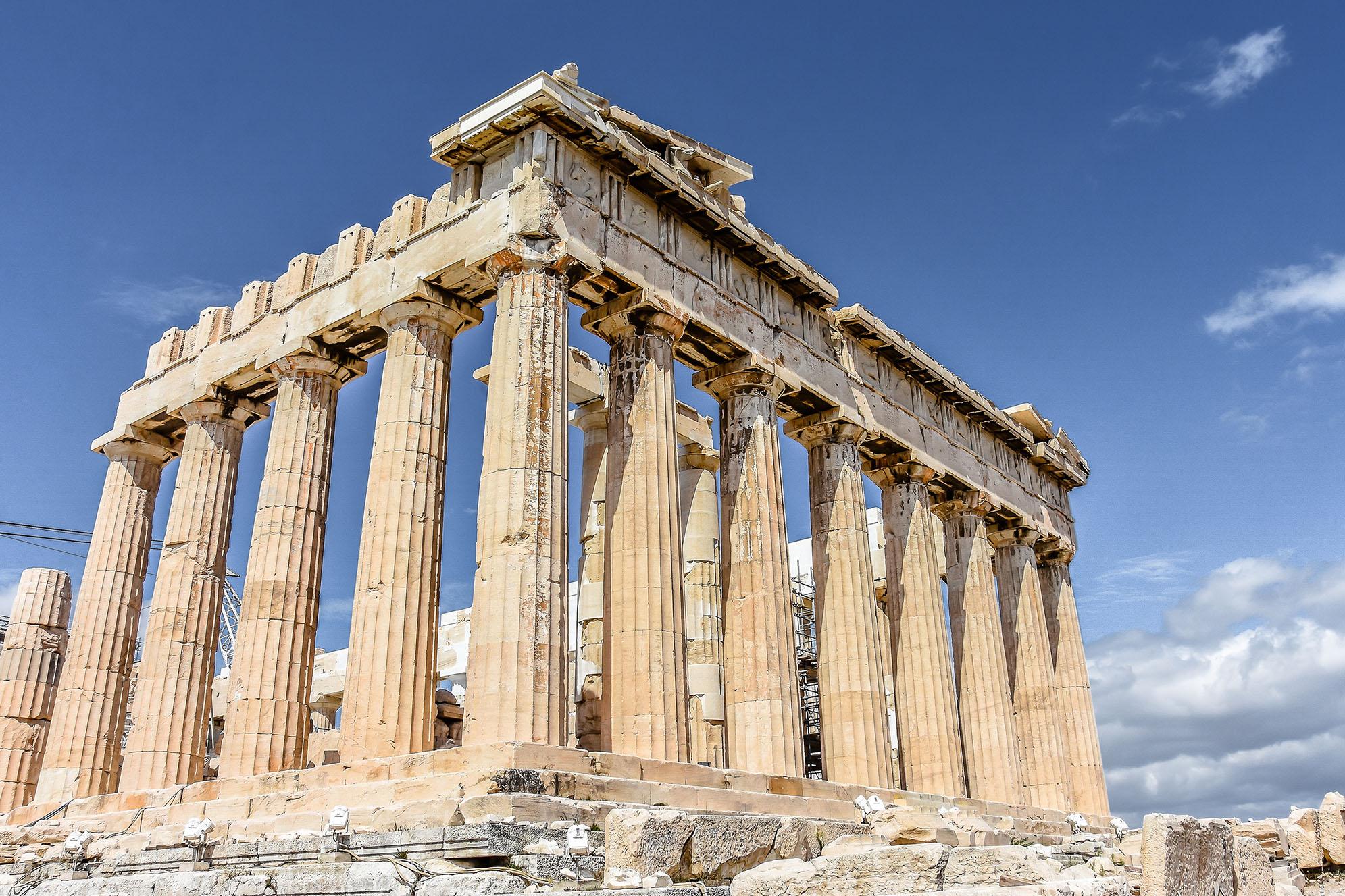 Parthenon Akropolis Aten Huvudstäder