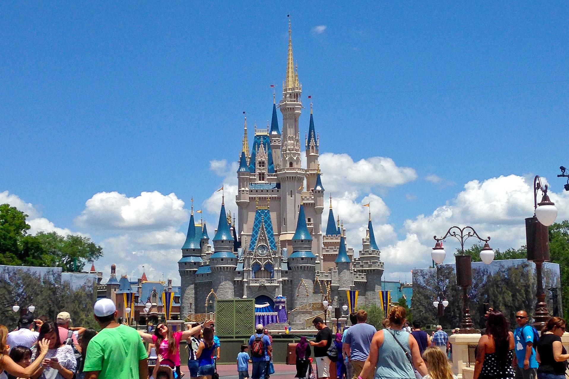 Askungens slott Walt Disney world i Orlando
