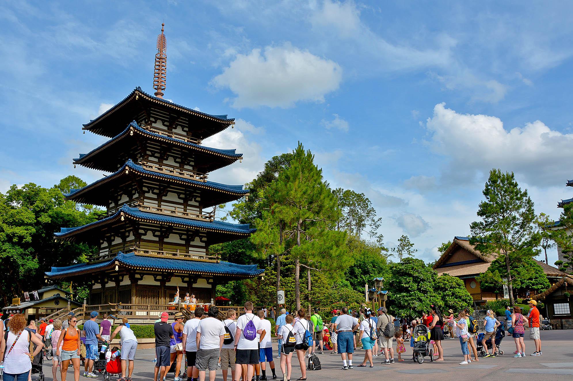 Japans paviljong på Epcot.