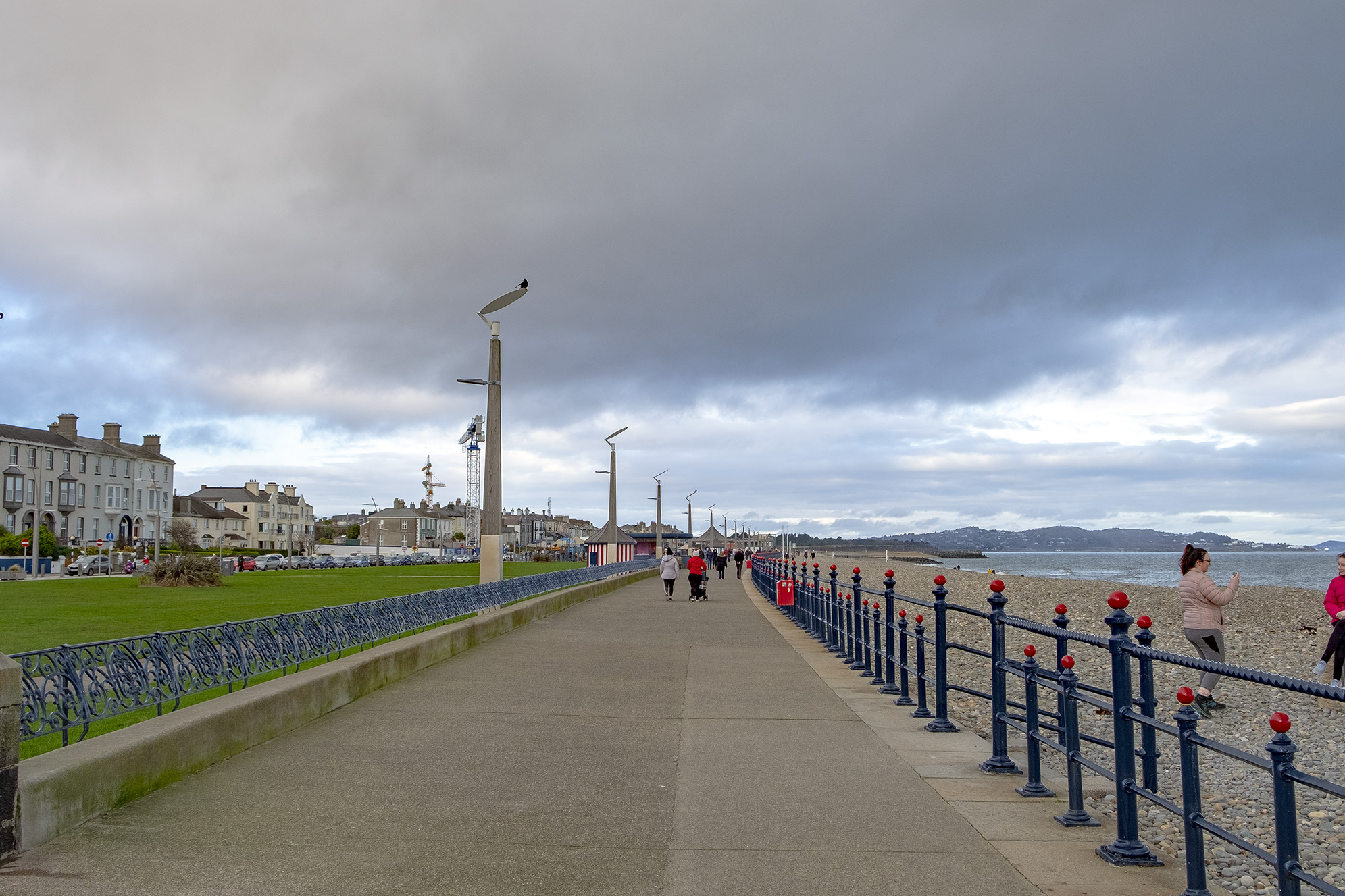Strandpromenaden i Bray.