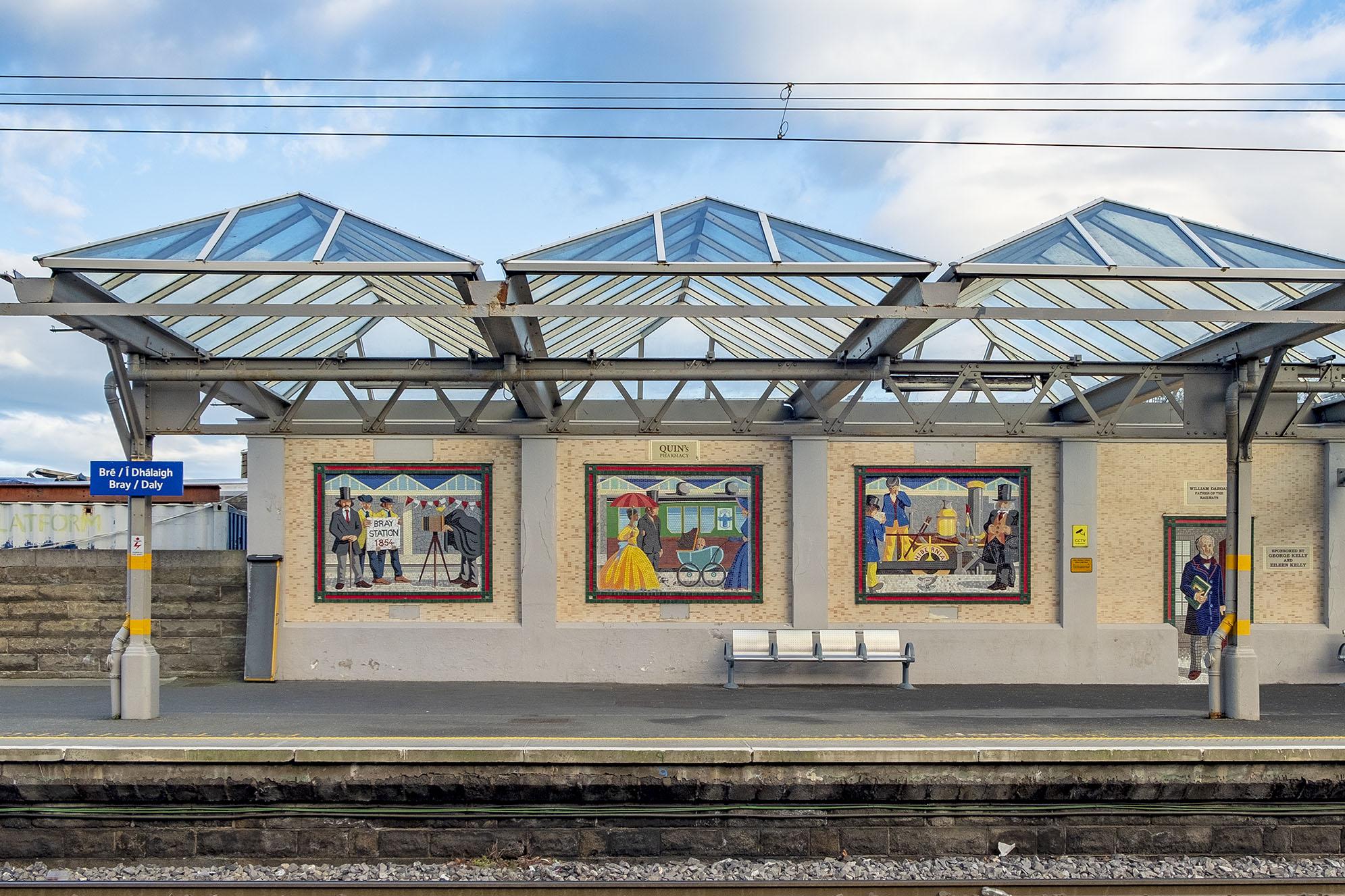 Mosaik tågstation Bray Irland
